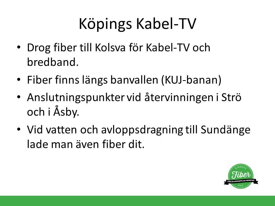 Köpings Kabel-TV Drog fiber till Kolsva för Kabel-TV och bredband.