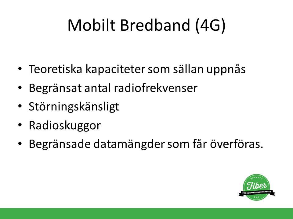 Mobilt Bredband (4G) Teoretiska kapaciteter som sällan uppnås