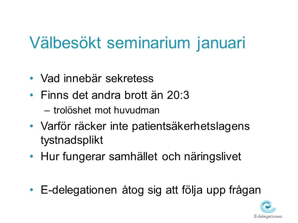 Välbesökt seminarium januari