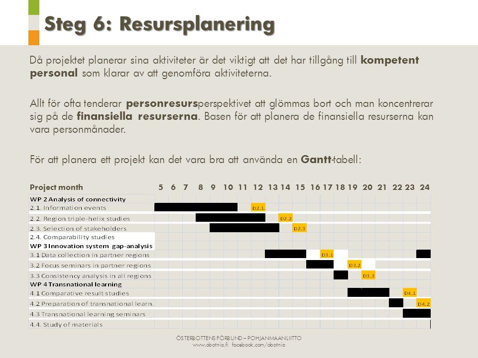 Steg 6: Resursplanering