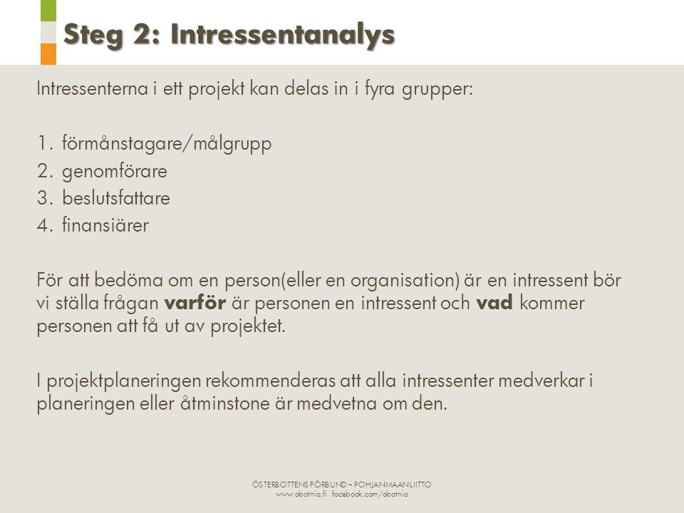 Steg 2: Intressentanalys
