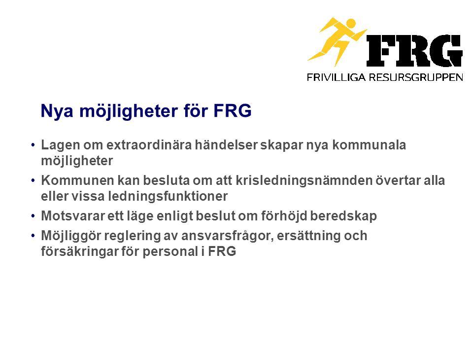 Nya möjligheter för FRG