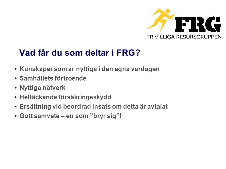 Vad får du som deltar i FRG