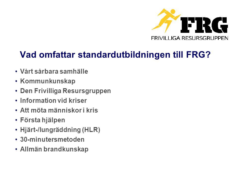 Vad omfattar standardutbildningen till FRG