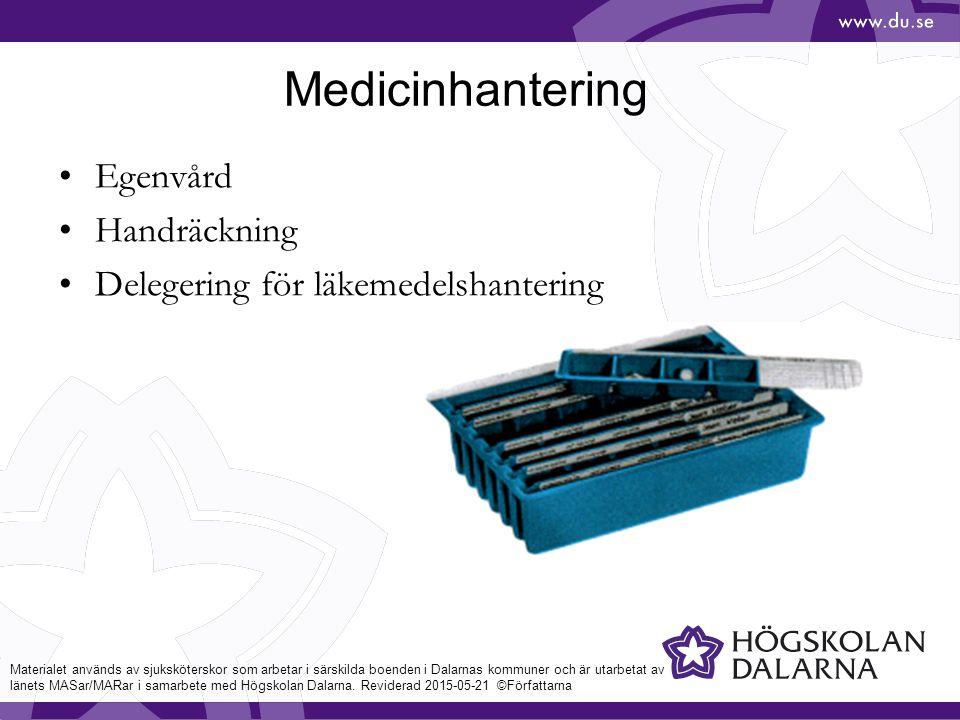 Medicinhantering Egenvård Handräckning