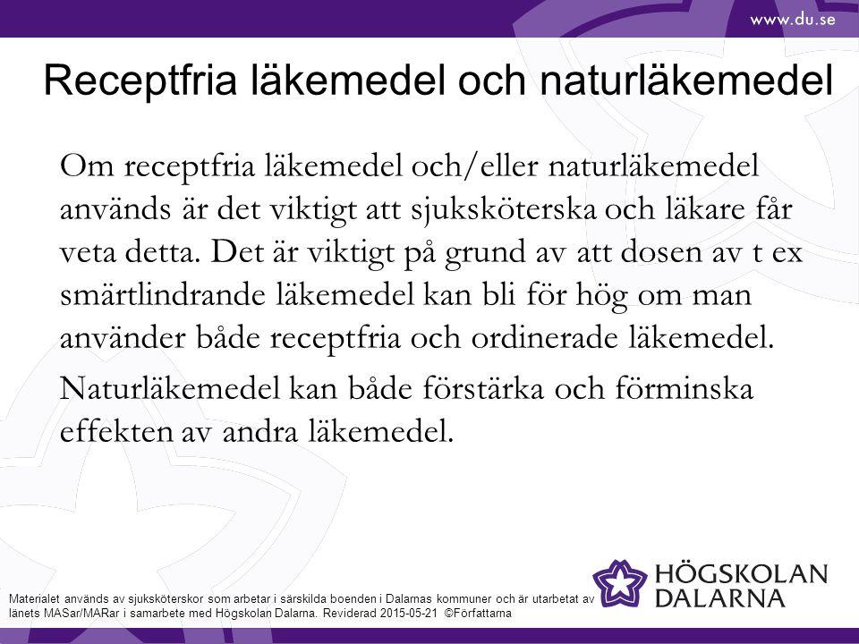 Receptfria läkemedel och naturläkemedel