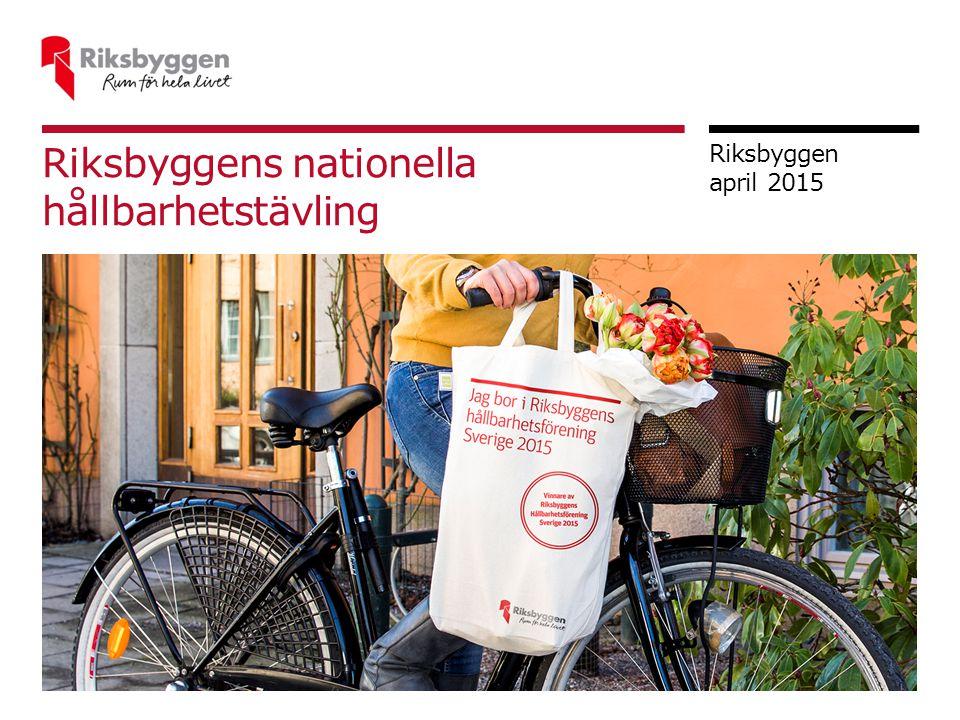 Riksbyggens nationella hållbarhetstävling