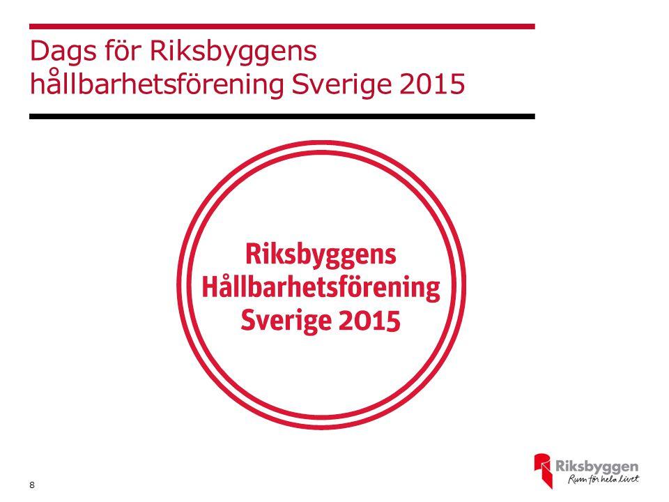 Dags för Riksbyggens hållbarhetsförening Sverige 2015