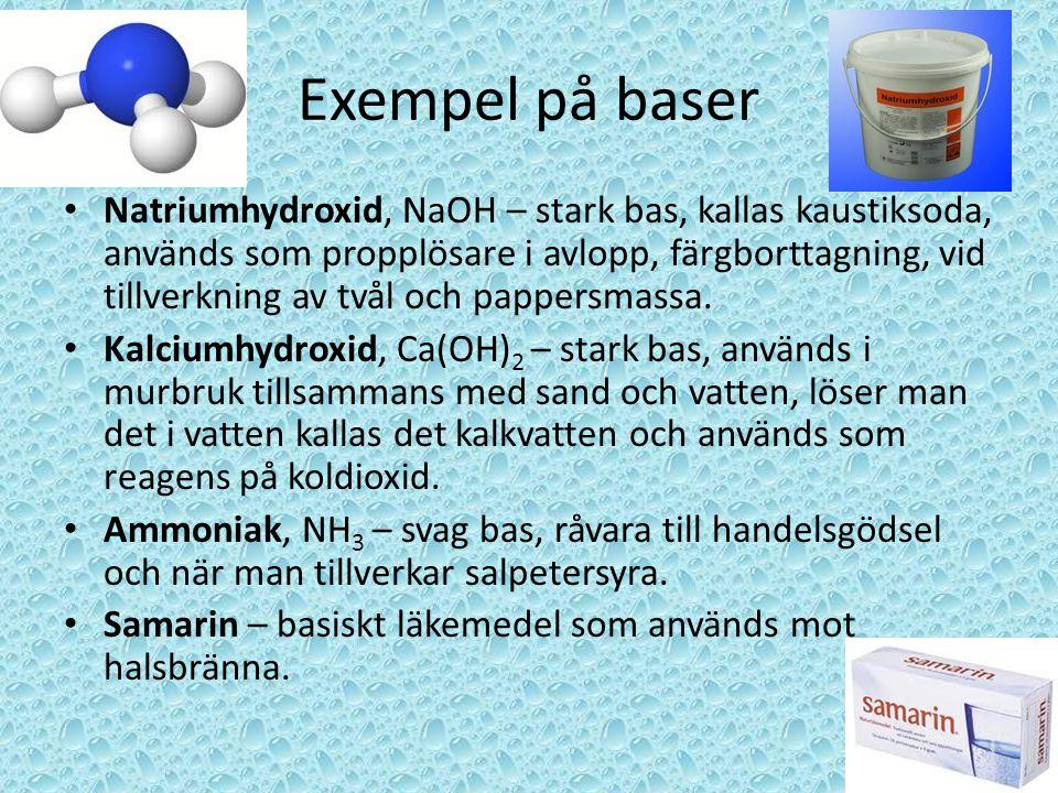 Exempel på baser