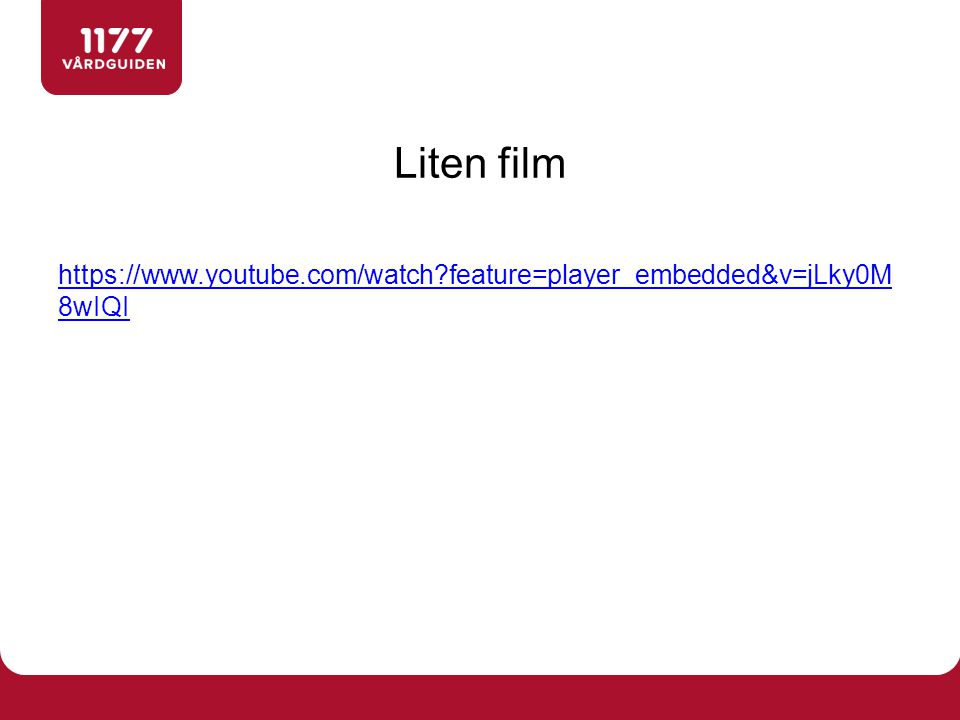 Liten film https://www.youtube.com/watch feature=player_embedded&v=jLky0M8wIQI