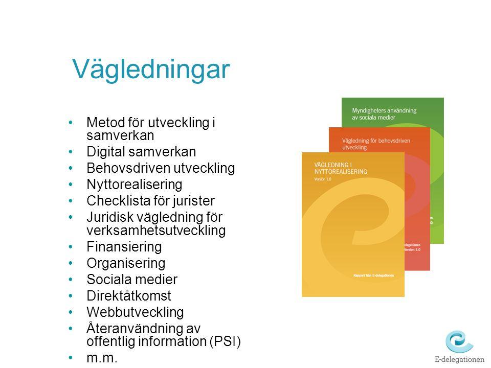 Vägledningar Metod för utveckling i samverkan Digital samverkan