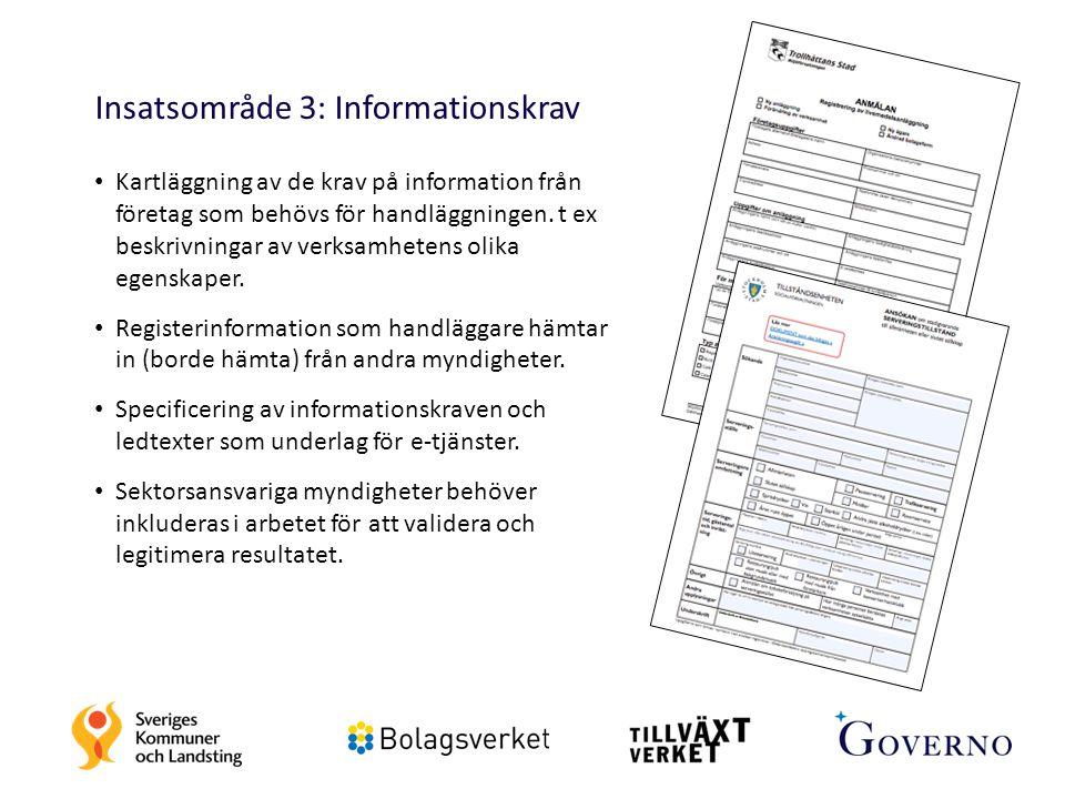 Insatsområde 3: Informationskrav
