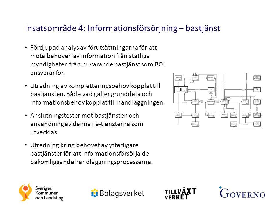 Insatsområde 4: Informationsförsörjning – bastjänst
