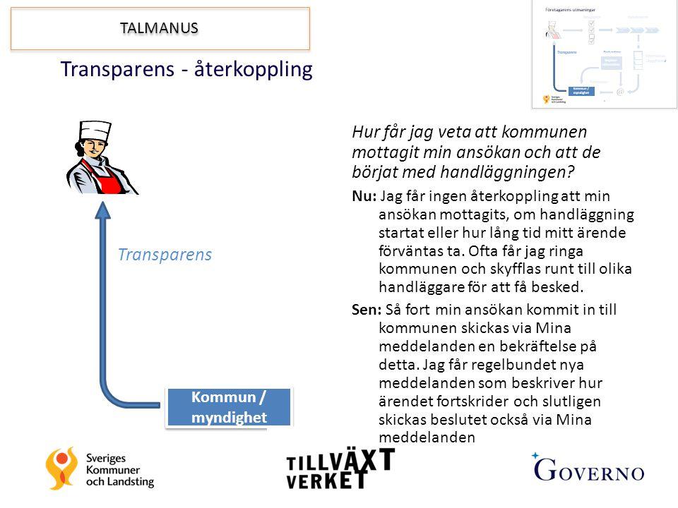 Transparens - återkoppling