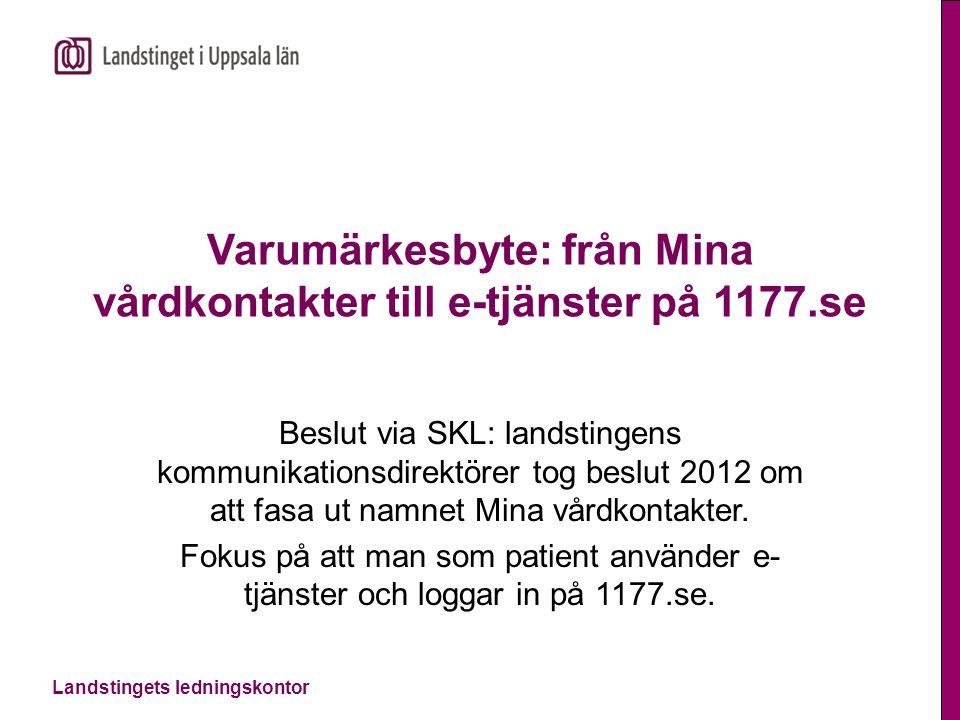 Varumärkesbyte: från Mina vårdkontakter till e-tjänster på 1177.se