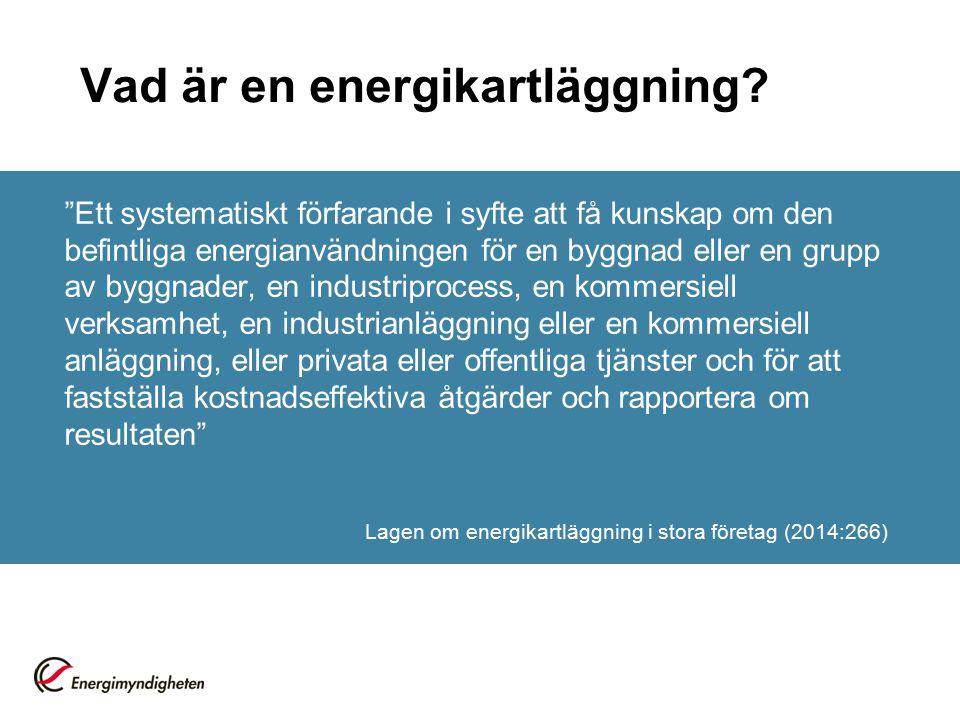 Vad är en energikartläggning