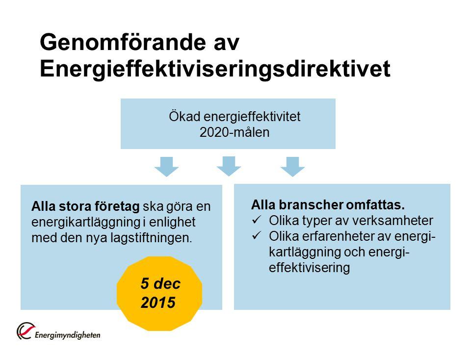 Genomförande av Energieffektiviseringsdirektivet