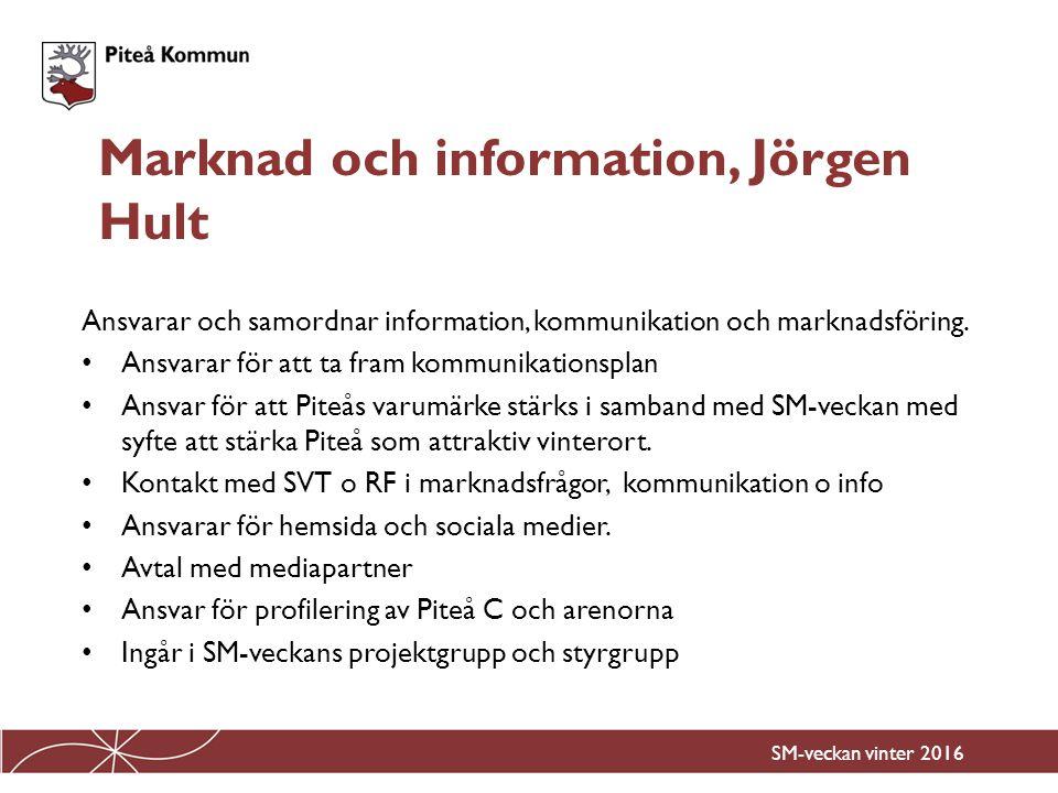 Marknad och information, Jörgen Hult