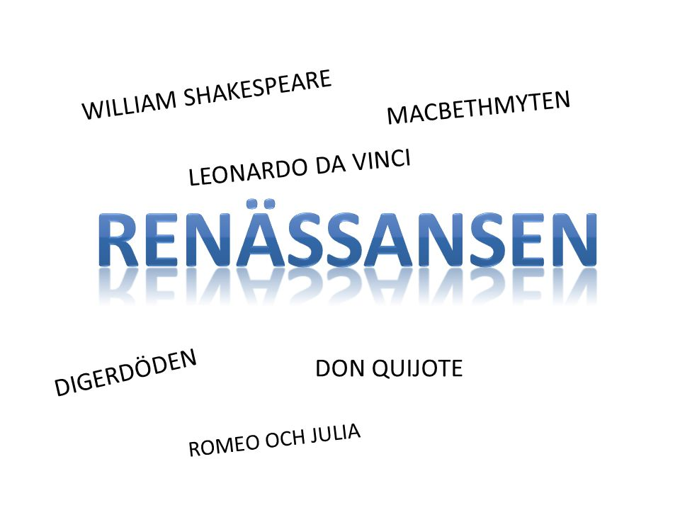 Renässansen WILLIAM SHAKESPEARE MACBETHMYTEN LEONARDO DA VINCI