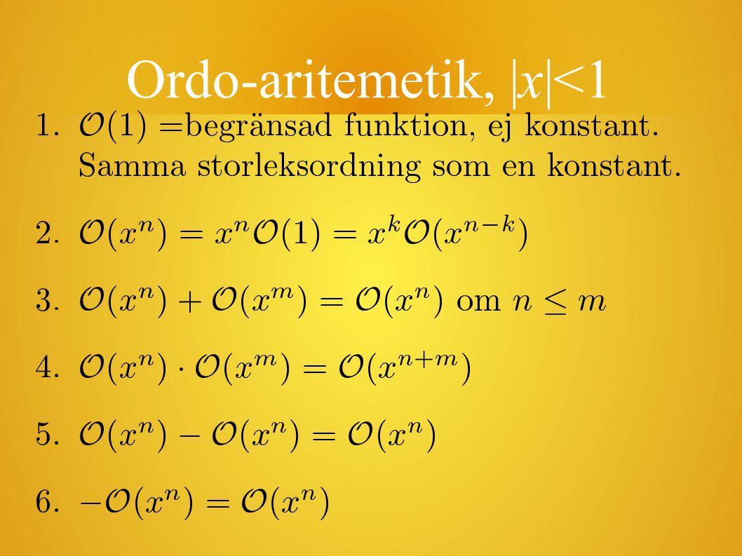 Ordo-aritemetik, |x|<1