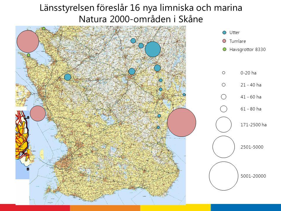 Länsstyrelsen föreslår 16 nya limniska och marina Natura 2000-områden i Skåne