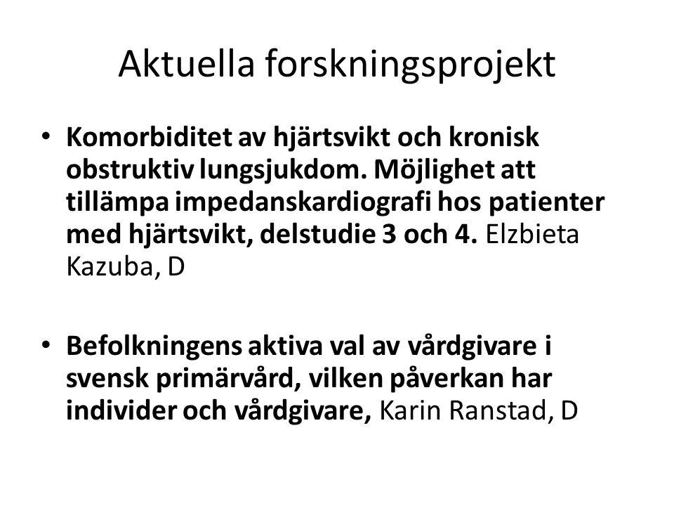 Aktuella forskningsprojekt