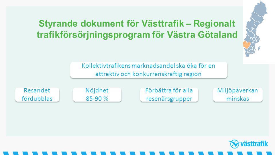 Styrande dokument för Västtrafik – Regionalt trafikförsörjningsprogram för Västra Götaland