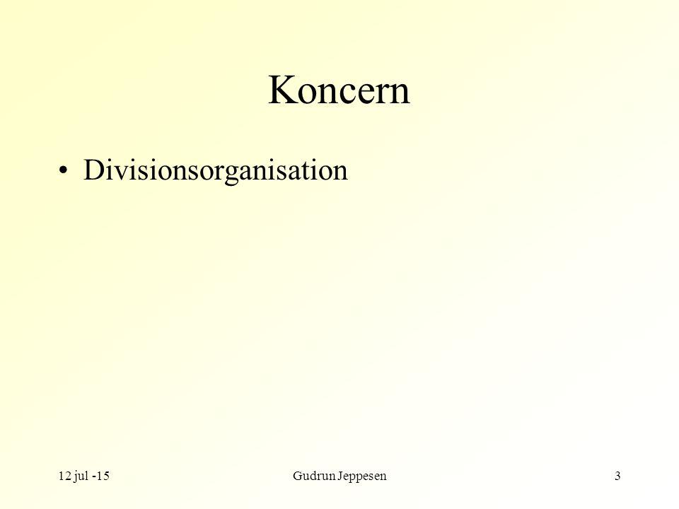 Koncern Divisionsorganisation 17 apr -17 Gudrun Jeppesen
