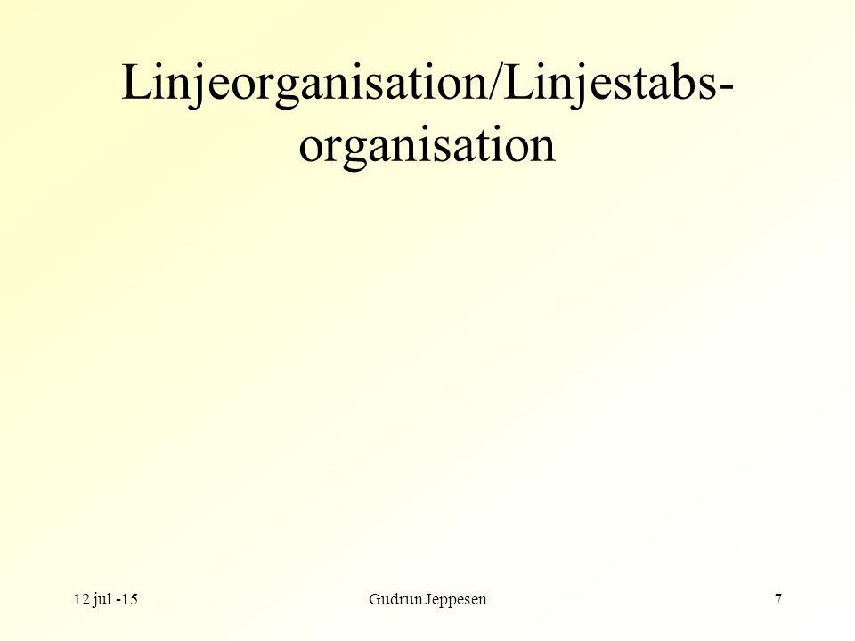 Linjeorganisation/Linjestabs-organisation