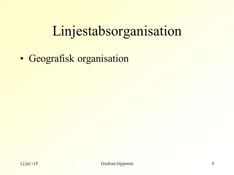 Linjestabsorganisation