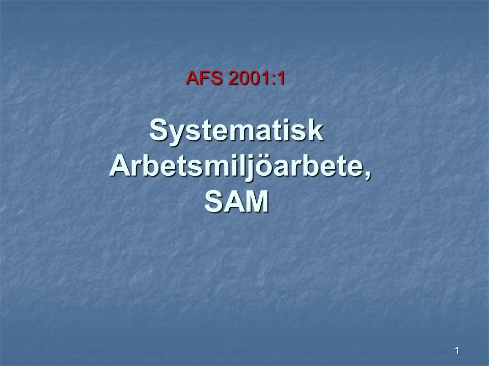 AFS 2001:1 Systematisk Arbetsmiljöarbete, SAM