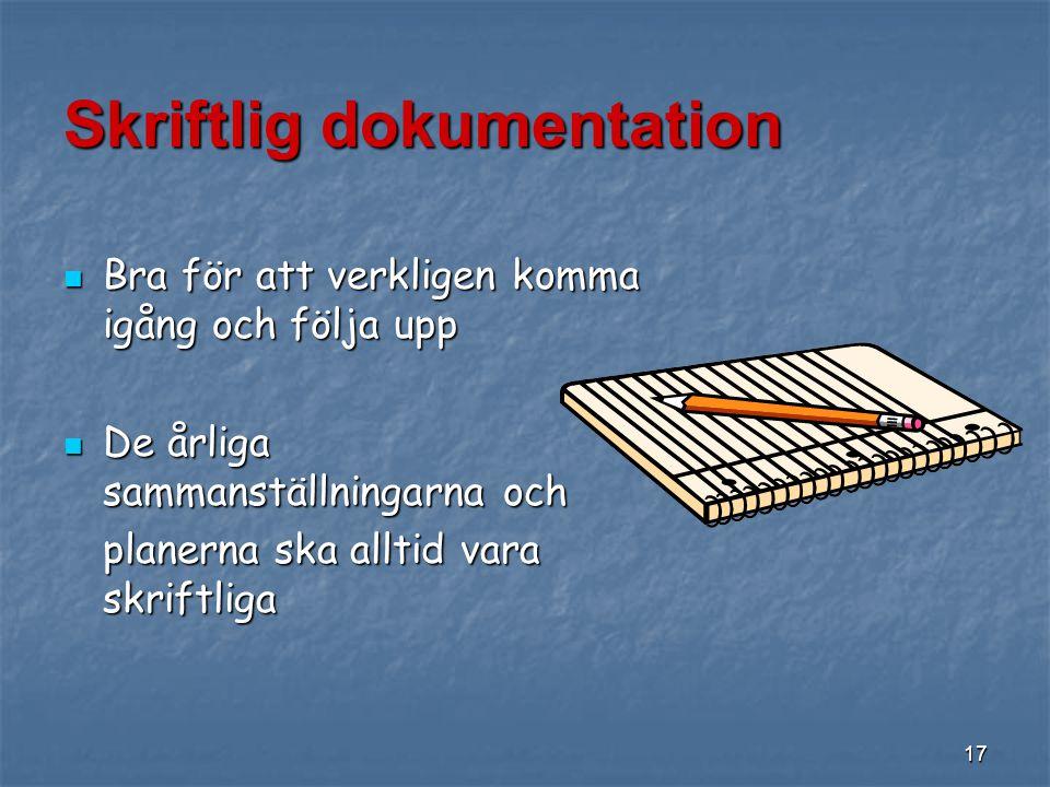 Skriftlig dokumentation