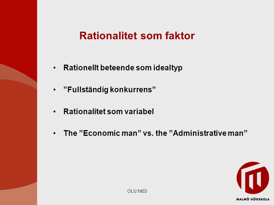 Rationalitet som faktor