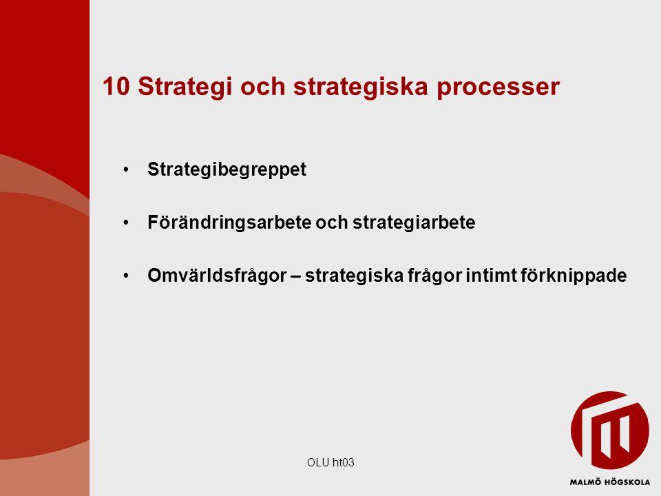 10 Strategi och strategiska processer