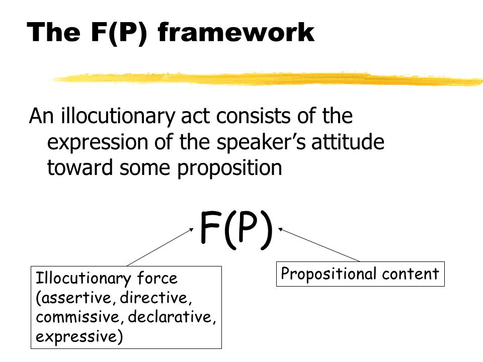 F(P) The F(P) framework