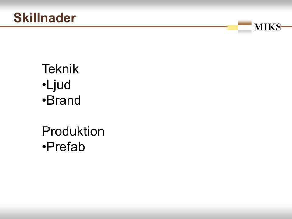 Skillnader Teknik Ljud Brand Produktion Prefab