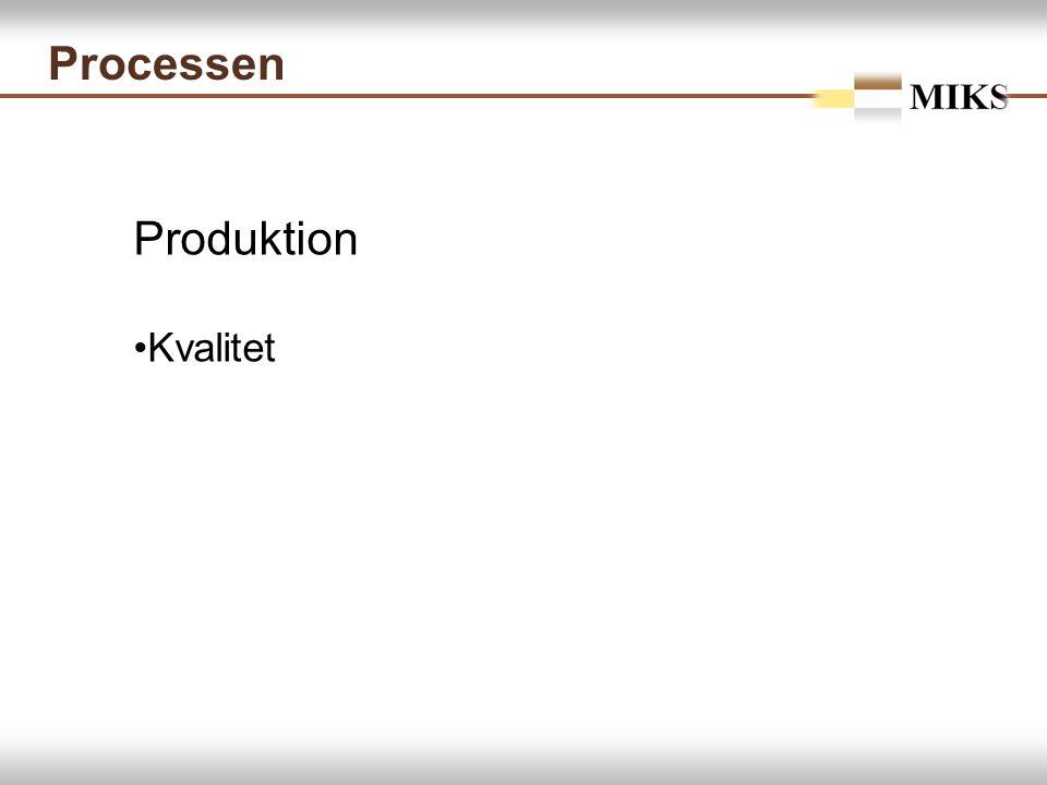 Processen Produktion Kvalitet