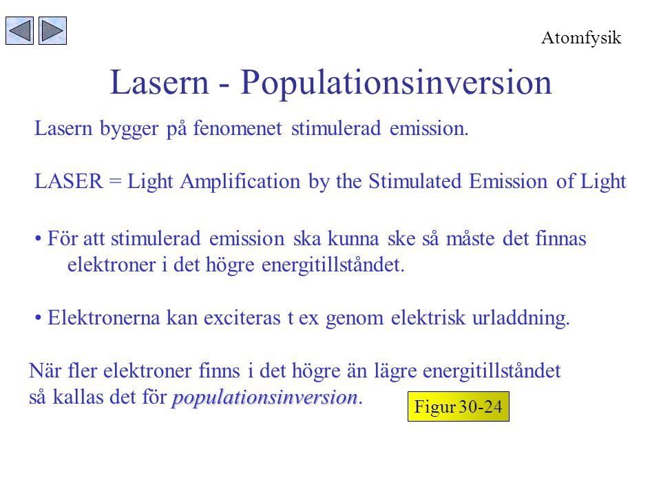 Lasern - Populationsinversion