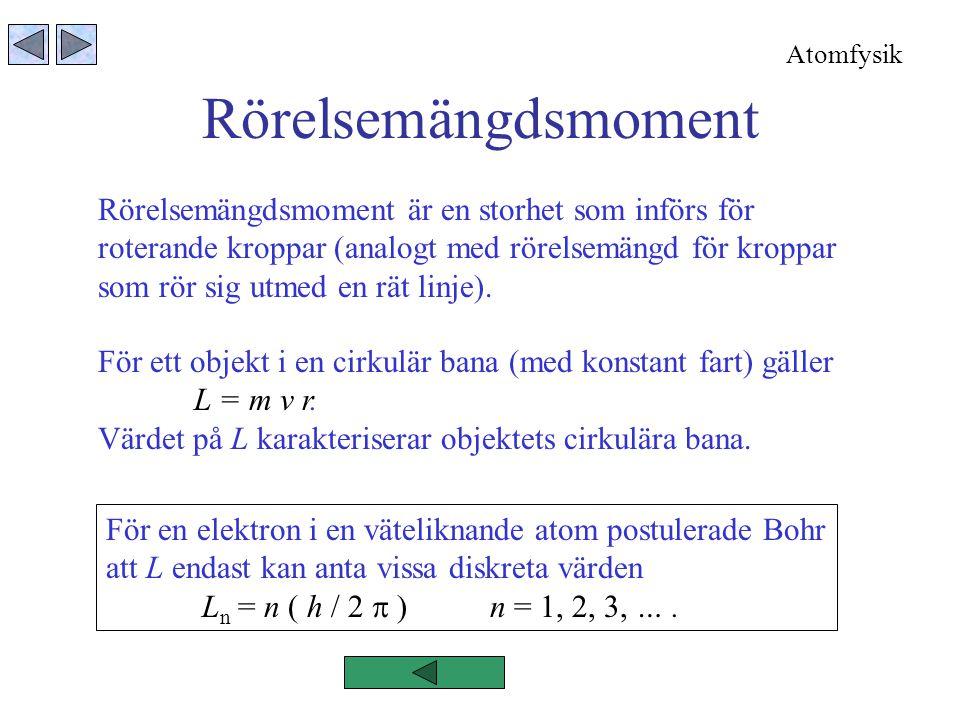Rörelsemängdsmoment Rörelsemängdsmoment är en storhet som införs för