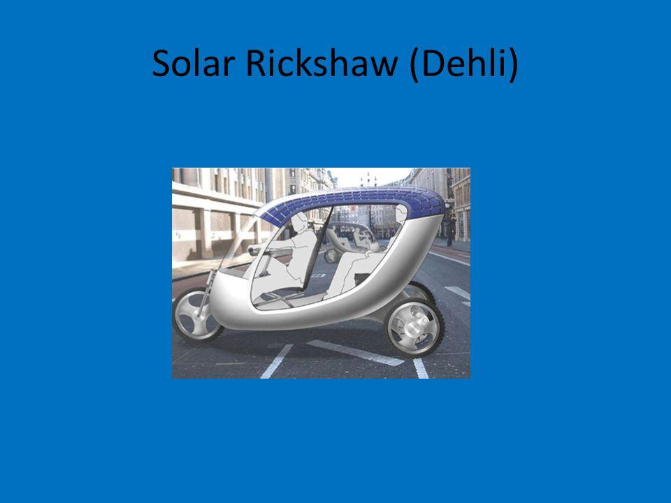 Solar Rickshaw (Dehli)