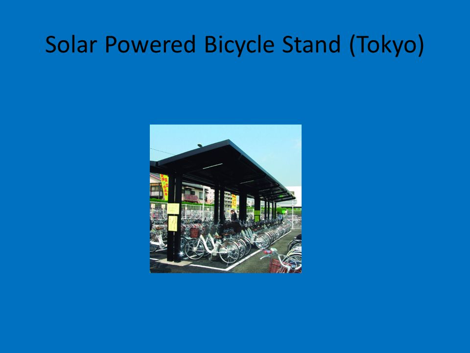 Solar Powered Bicycle Stand (Tokyo)