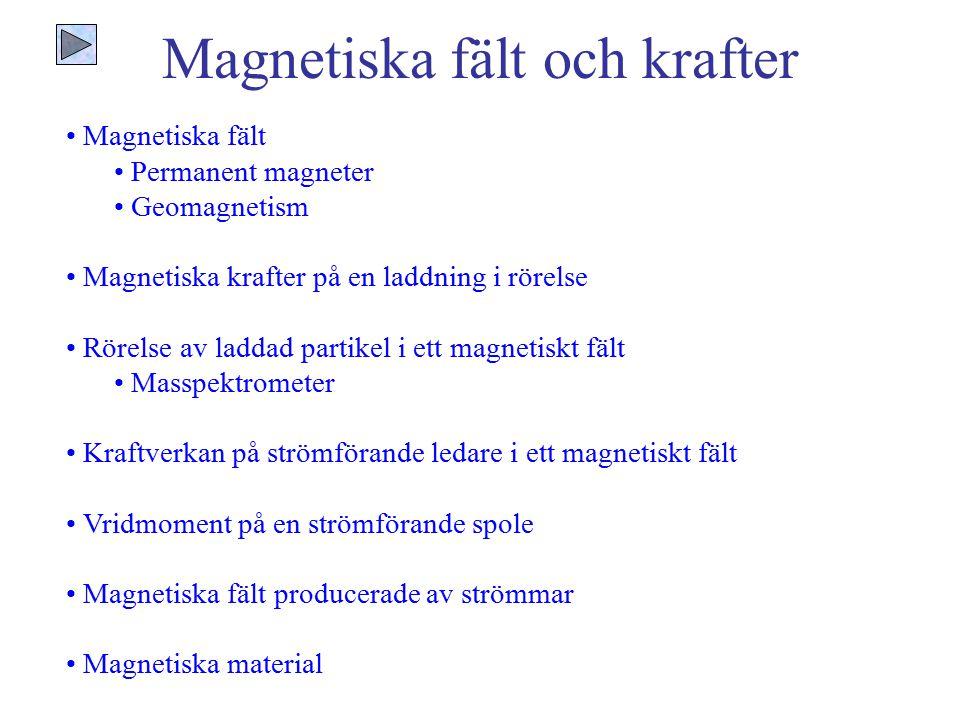 Magnetiska fält och krafter