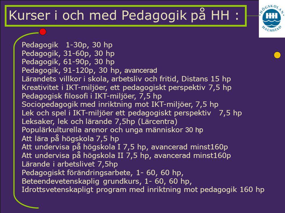 Kurser i och med Pedagogik på HH :