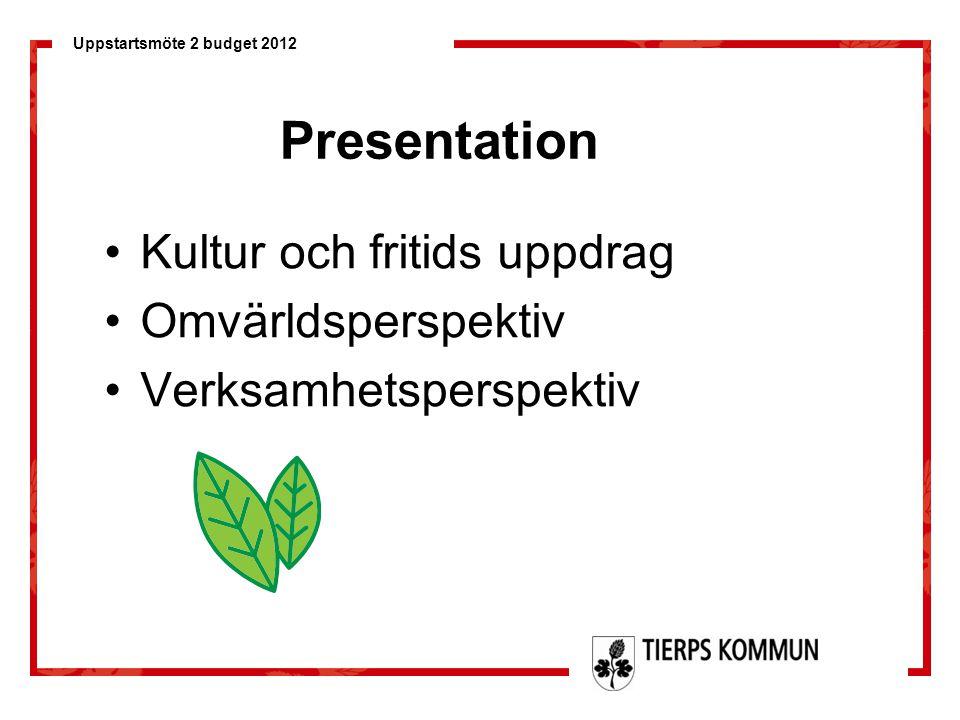 Presentation Kultur och fritids uppdrag Omvärldsperspektiv