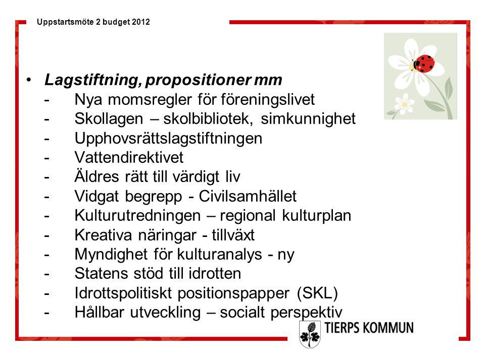 Lagstiftning, propositioner mm
