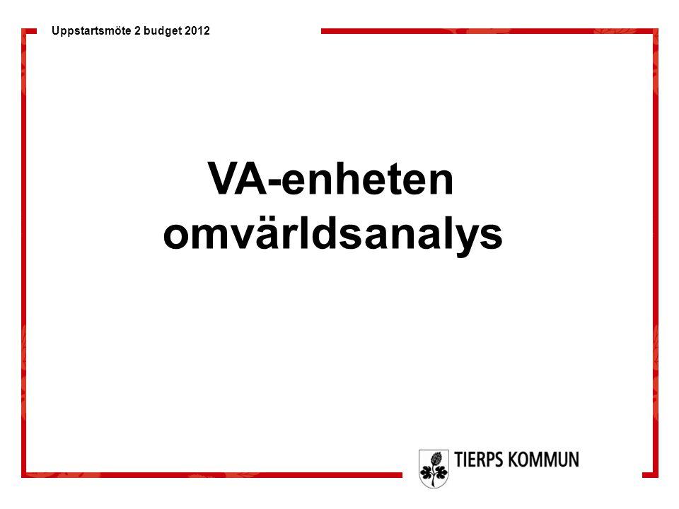VA-enheten omvärldsanalys