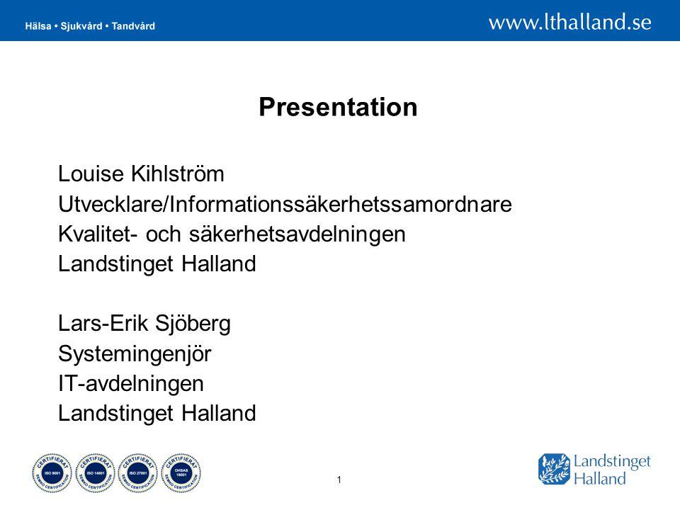 Presentation Louise Kihlström