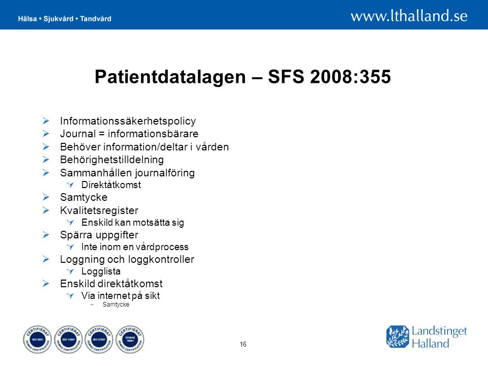 Patientdatalagen – SFS 2008:355