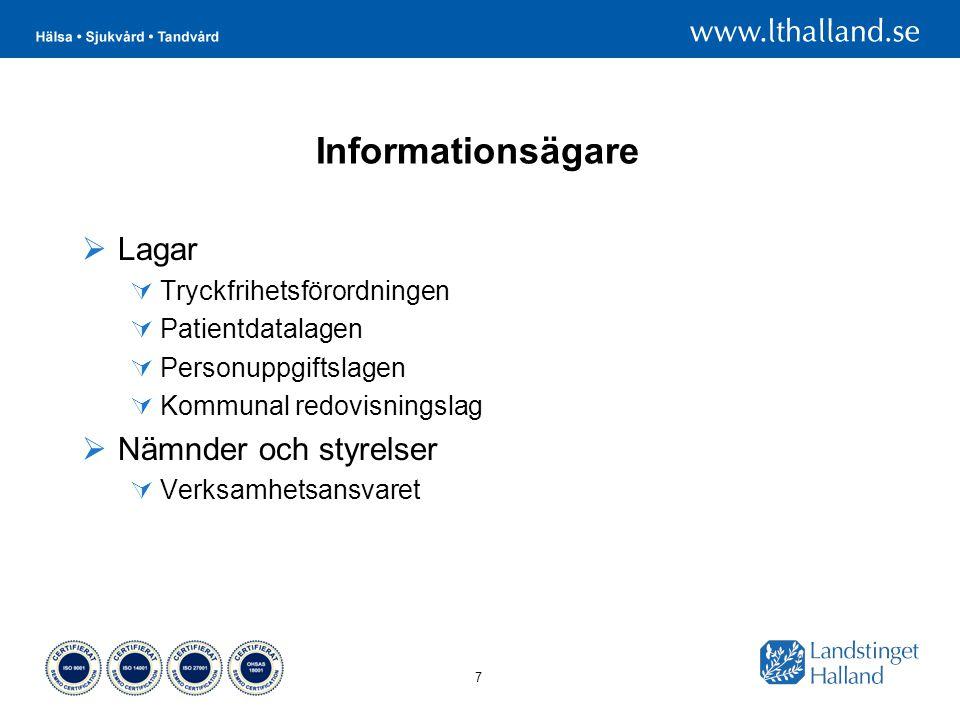 Informationsägare Lagar Nämnder och styrelser Tryckfrihetsförordningen