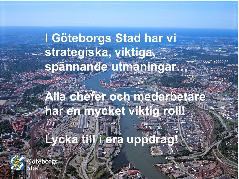 I Göteborgs Stad har vi strategiska, viktiga, spännande utmaningar…